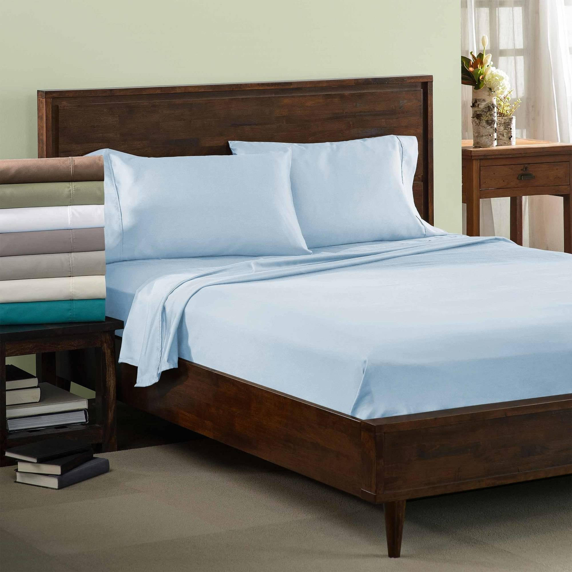 Superior 600 Thread Count Wrinkle Resistant Luxury Cotton Blend Solid Pillowcase Set