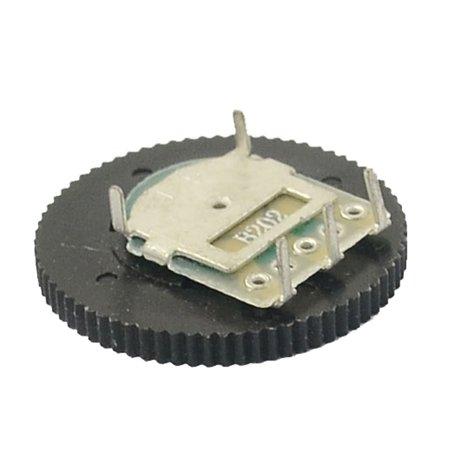 2K Ohm 3 Terminals 20mm Dia Volume Single Linear Radio Dial Wheel Potentiometer - image 2 of 2