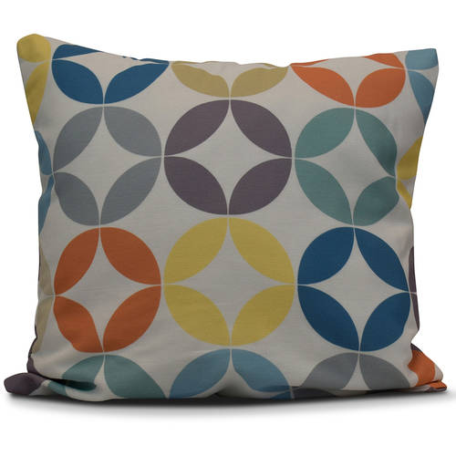 "Simply Daisy 16"" x 16"" Eye Opener Geometric Print Pillow"