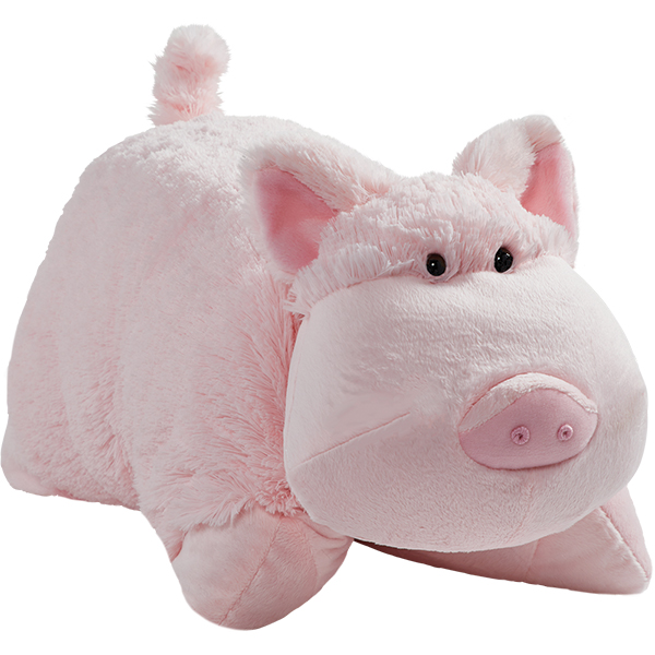 "Pillow Pets 18"" Signature Wiggly Pig Stuffed Animal Plush Toy"