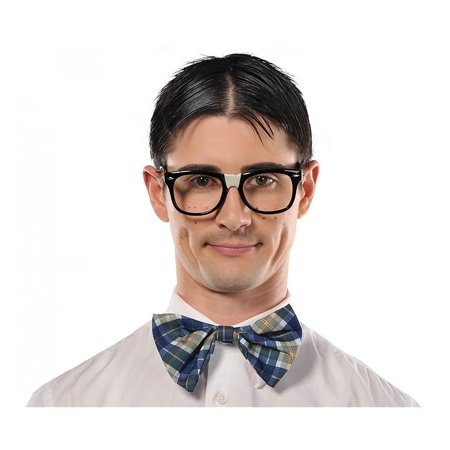 50 Themed Party (Amscan Nifty 50's Theme Party Classic Nerd Glasses, Black, 3.6 x)