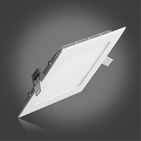 LAIN Flat LED Ceiling Light, 9W LED Panel Light Fixtures Dimmable Square Recessed led Lighting,5000K Cold White Downlight,720lm,4.9 inch Hole Size with 110V LED Driver,Kitchen Recessed