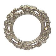 Dollhouse Round Ornate Picture Frame Gold
