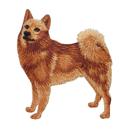 Finland Ribbons - ID 2749 Finnish Spitz Dog Patch Chow Puppy Breed Embroidered Iron On Applique