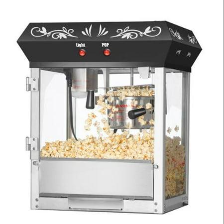 Great Northern Popcorn Black Foundation Popcorn Popper Machine  6 Ounce