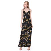 Ever-Pretty Womens Elegant Long Maxi Floral Print Chiffon Beach Sun Holiday Party Summer Casual Dresses for Women 07032 US 4