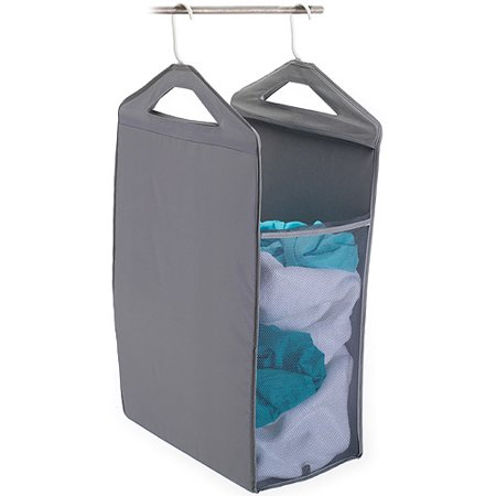 Homz Hanging Closet Hamper, Grey