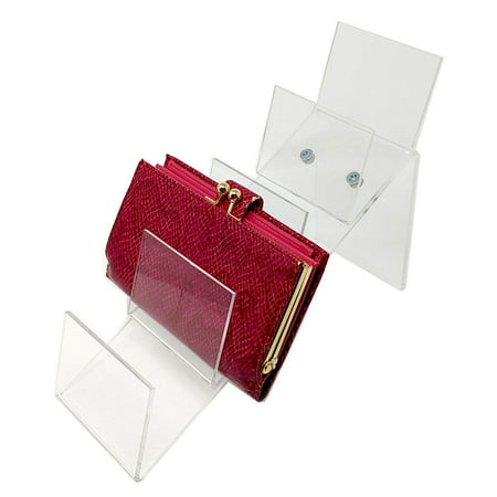 Acrylic Counter Top Clutch Handbag Holding Display for Retail, 7