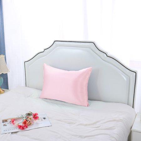 100% Silk Fabric Pillow Case Cover Pillowcase 1pc Pink Queen