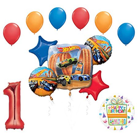 Mayflower Products Hot Wheels Party Supplies 1st Birthday Balloon Bouquet Decorations
