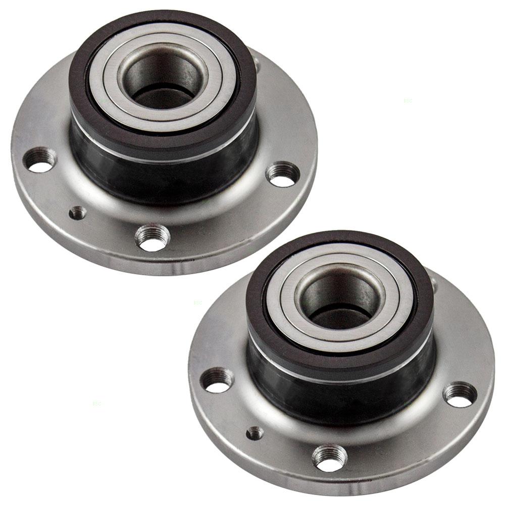 Pair Set of Rear Wheel Hub Bearings Replacement for Audi Volkswagen 1T0598611B