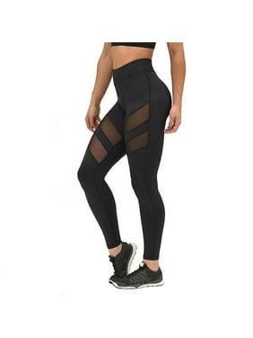 c3416288473a65 Product Image Women Sports Mesh Trouser Athletic Gym Workout Fitness Waist  Capris Yoga Pants Leggings Plus Size,