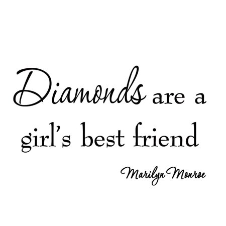VWAQ Diamonds Are a Girl's Best Friend Marilyn Monroe Vinyl Wall Decal Saying Art