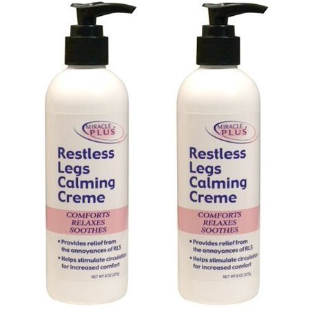 Restless Legs Calming Creme to Help Combat Fatigue, Irritability, Itching, Crawling, Shaking. (Two - 8oz)