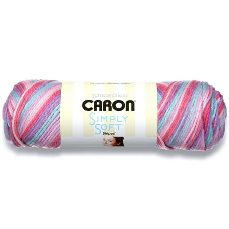 Caron Simply Soft Acrylic Stripes Times Square Yarn, 1