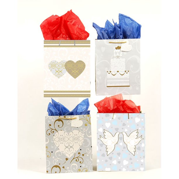 Walmart Wedding Gift Ideas: FLOMO Large Love Bliss Wedding Gift Bags