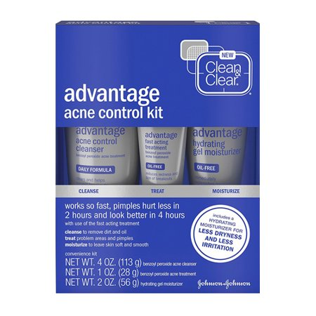 Advantage Skis - Clean And Clear Advantage Acne Control Kit For Clear Skin, 3 Ea