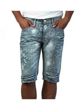 d261892a Product Image Men's Splatter Shredded Denim Shorts from Jordan Craig Legacy  Edition