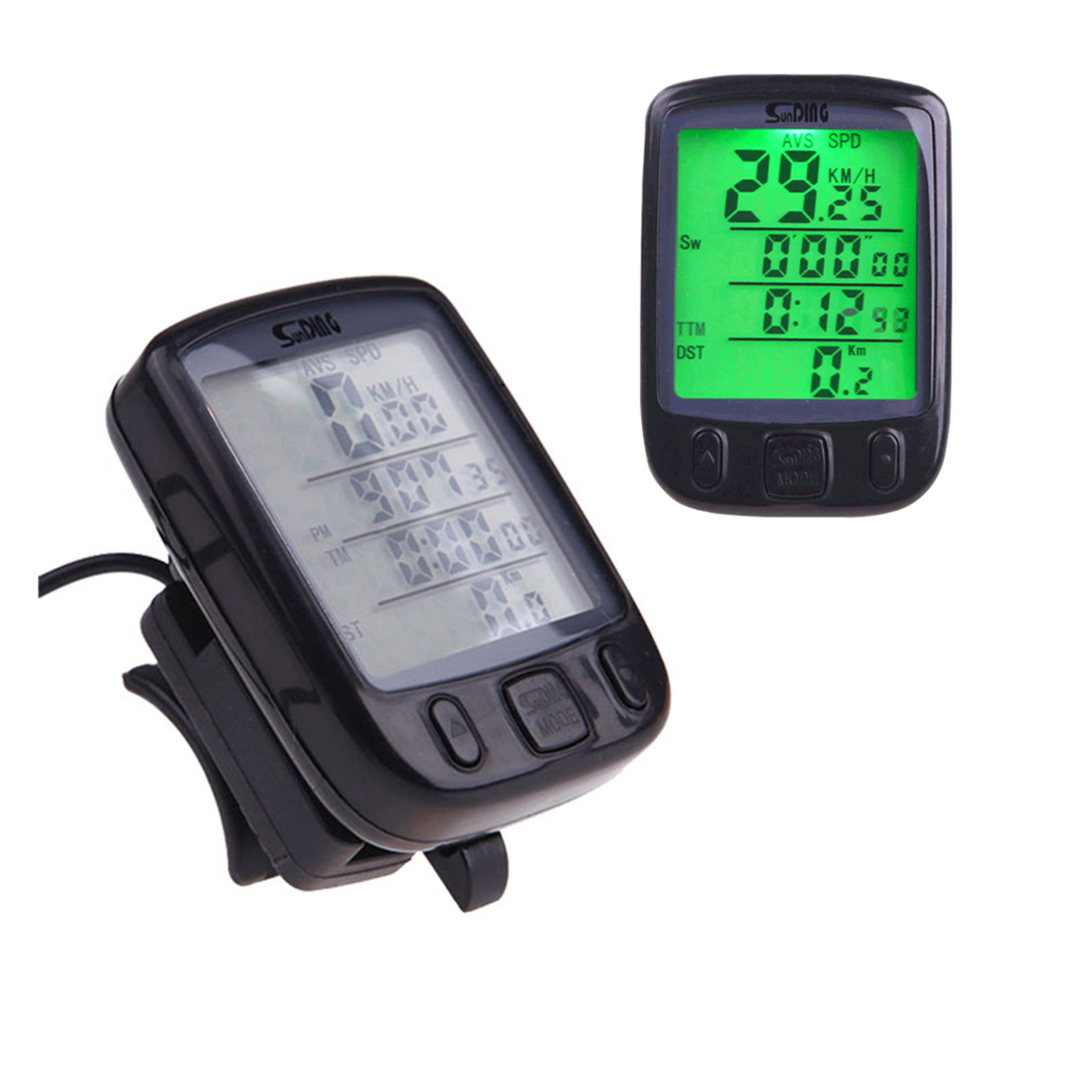 Bicycle Speedometer and Odometer Wired Waterproof Cycle  Bicycle Bike Computer with LCD Display Backlight & Multi-Functions