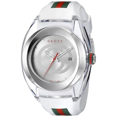 Gucci Sync XXL White Rubber Unisex Watch YA137102 - Gucci Women Watches