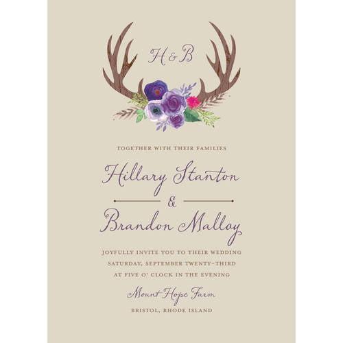 Woodland Fantasy Standard Wedding Invitation Walmart Com