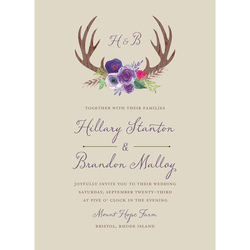 Woodland Fantasy Standard Wedding Invitation