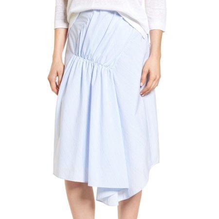 Nordstrom White Womens Asymmetrical Pinstriped Skirt