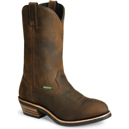 Distressed Tan Footwear (Dan Post Men's Albuquerque Waterproof Distressed Leather Western Work Boot - Dp69681 )