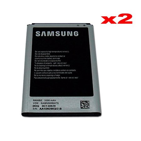 Genuine OEM 3200mAh Standard Batteries B800BZ B800BU B800BK B800BE for Samsung Galaxy Note 3 - 2 Pack