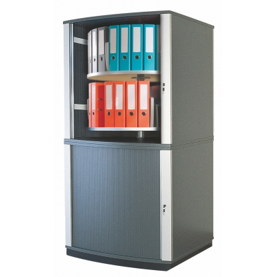 Moll Lockfile Binder & File Carousel Cabinet, Four Tier, ...