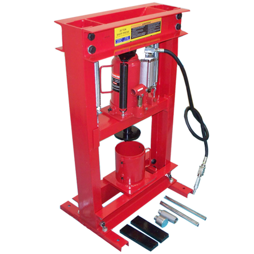 Combo 20 Ton Air Hydraulic Oil Filter CAN CRUSHER + SHOP PRESS