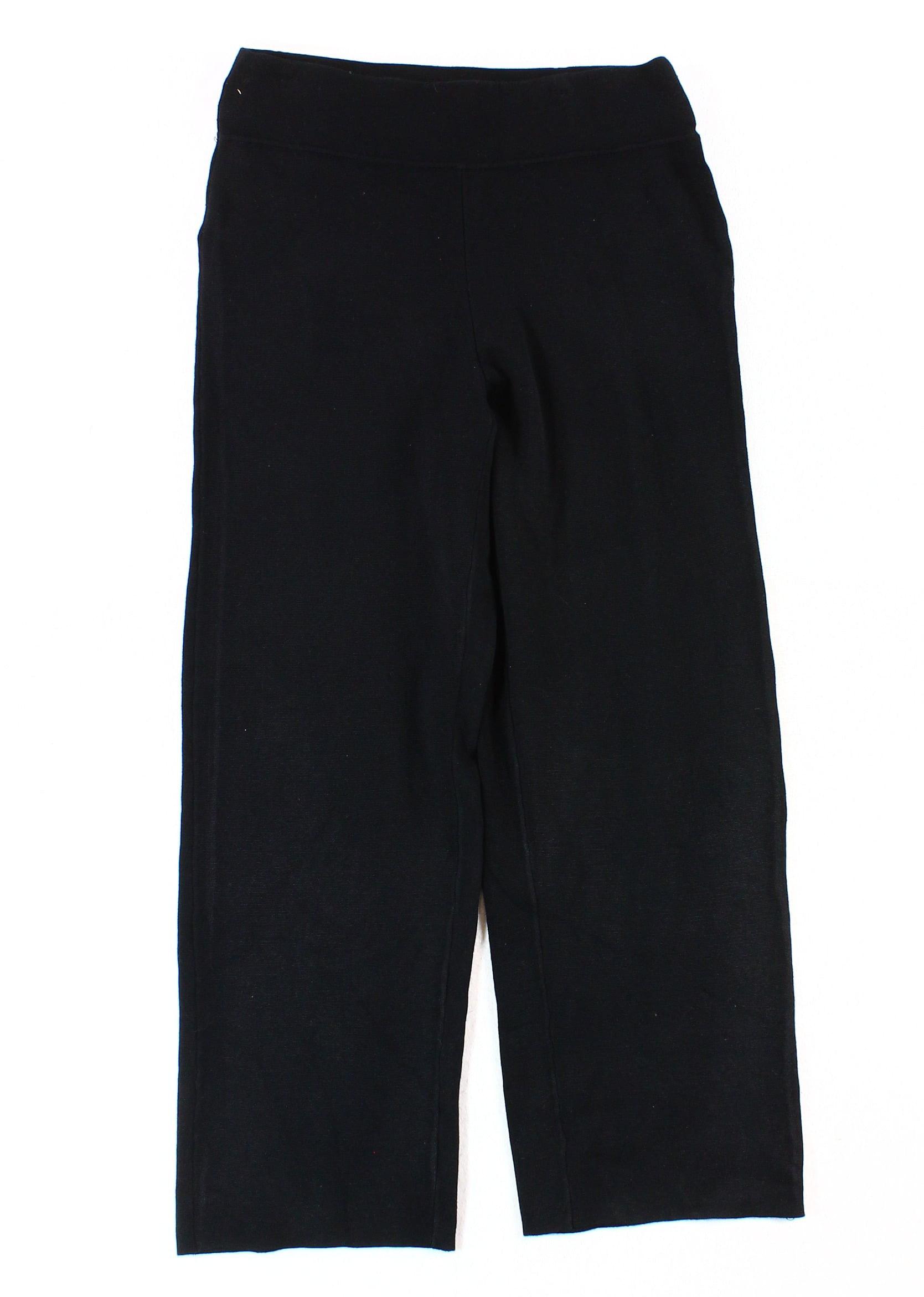 Alfani NEW Black Women's XL Pull-On Wide-Leg Knit Trousers Pants