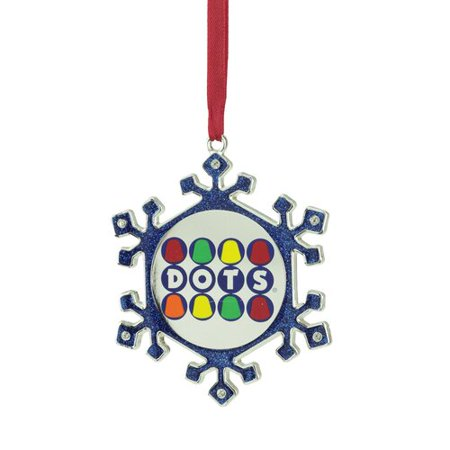 Northlight Seasonal Snowflake Dots Candy Logo Christmas Ornament with European Crystal](Snowflake Candy)