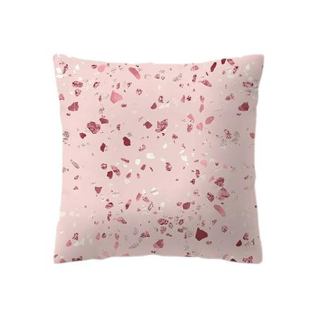 Rose Gold Pillow Case Geometric Pineapple Glitter Cushion Cover