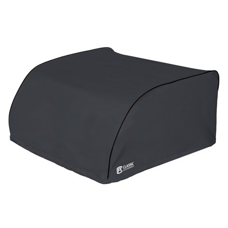 Classic Accessories OverDrive RV Air Conditioner Cover, Fits Atwood 135 & 150 Air Commander, Black The RV Air Conditioner Cover by Classic Accessories keeps weather, dirt and tree debris out of your RV air conditioner while blocking drafts. Sized to fit all major manufacturer RV air conditioners. When you buy a Classic Accessories RV cover you are not just getting a cover; youre also purchasing peace of mind. Not only will you be protected from the elements, but youll be protected with the easiest warranty in the industry. If your product fails within the warranty period, look for us online and take advantage of our Hassle-Free warranty program supported by our US-based customer service team.