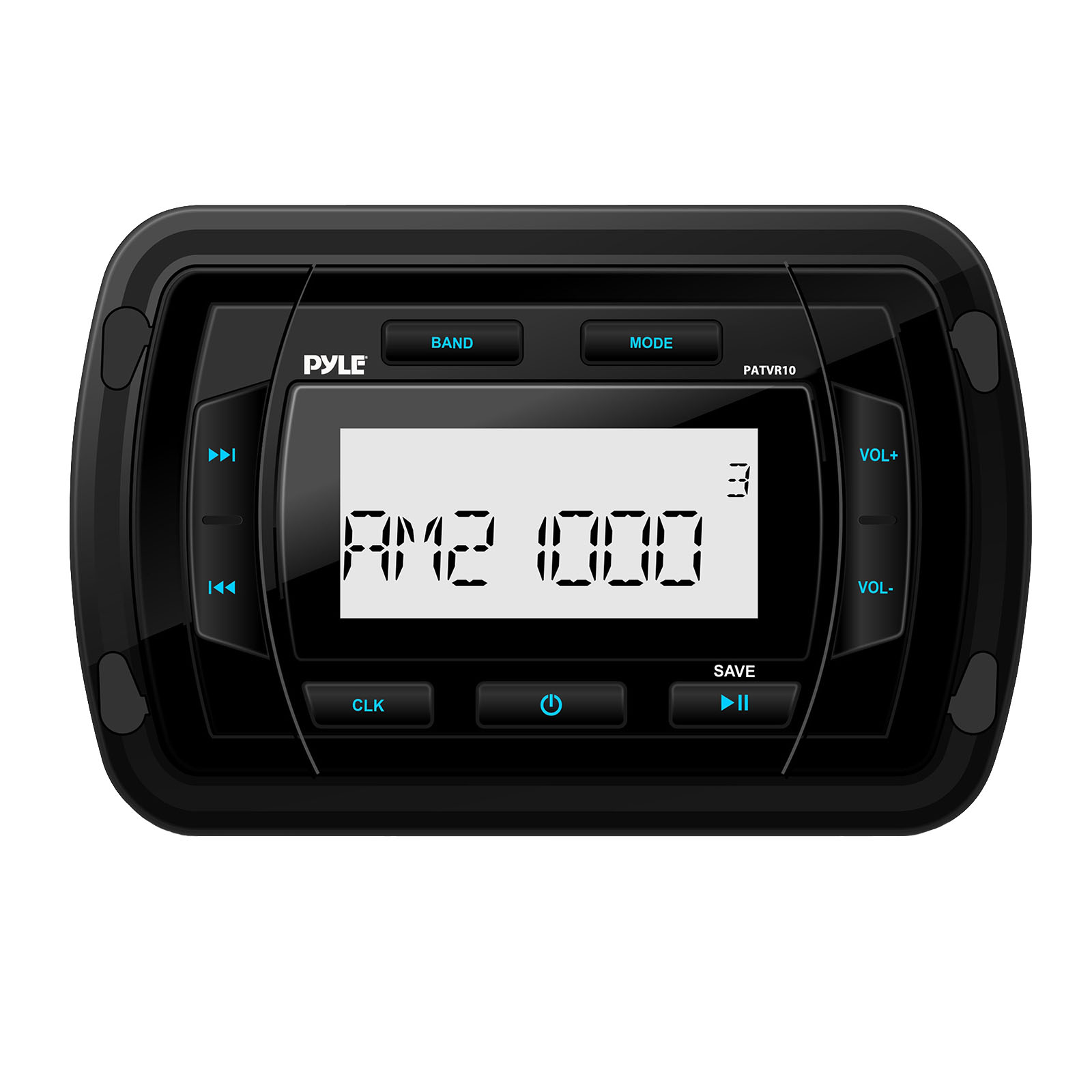 Marine BT Radio Receiver - Water Resistant Stereo Headunit, MP3/USB/AUX