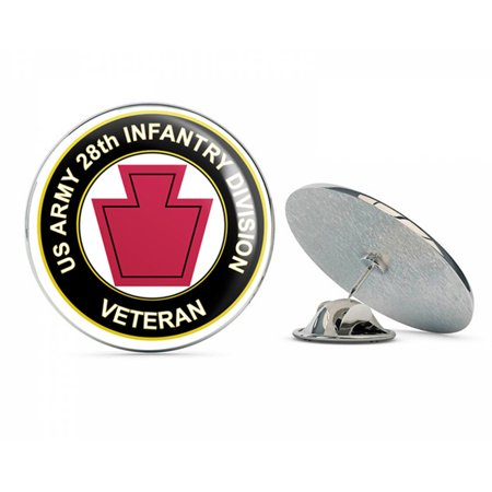 "U.S. Army Veteran 28th Infantry Division Metal 0.75"" Lapel Hat Pin Tie Tack Pinback"