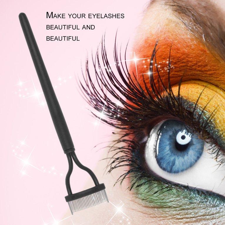 Professional Women Eyelash Makeup Brush Steel Needle Mascara Separator Tool