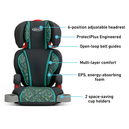 Graco TurboBooster Highback Booster Car Seat, Mosaic