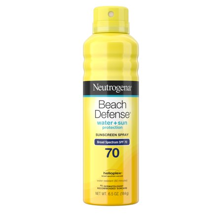 Neutrogena Beach Defense Oil-Free Body Sunscreen Spray, SPF 70, 6.5 oz