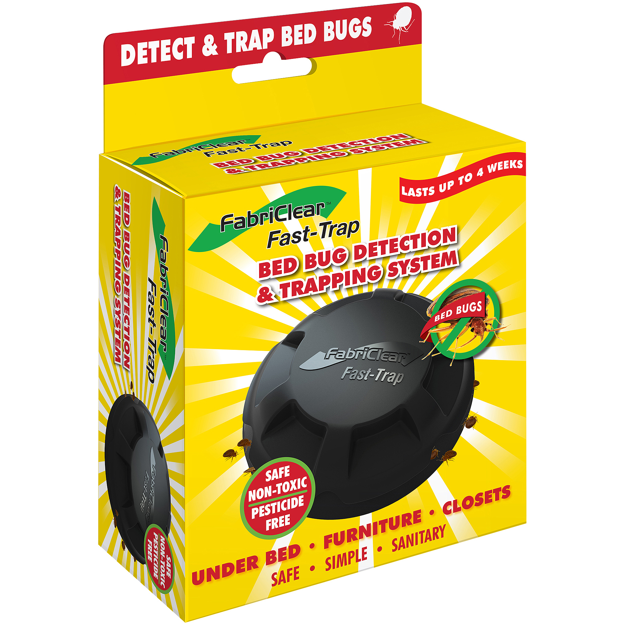 FabriClear Fast-Trap Bed Bug Detection & Trapping System