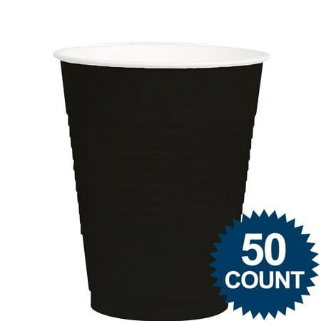 Black 12oz. Plastic Cup (50 Pack) - Party Supplies](Plastic Party Tub)