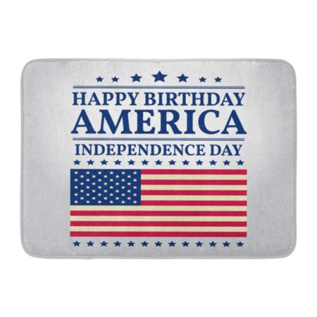 GODPOK America Blue USA Fourth of July Independence Day Patriotic for 4Th Typographic Design Political American Rug Doormat Bath Mat 23.6x15.7 inch