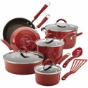 Rachael Ray 12-Pc. Nonstick Cucina Cookware Set (Red)
