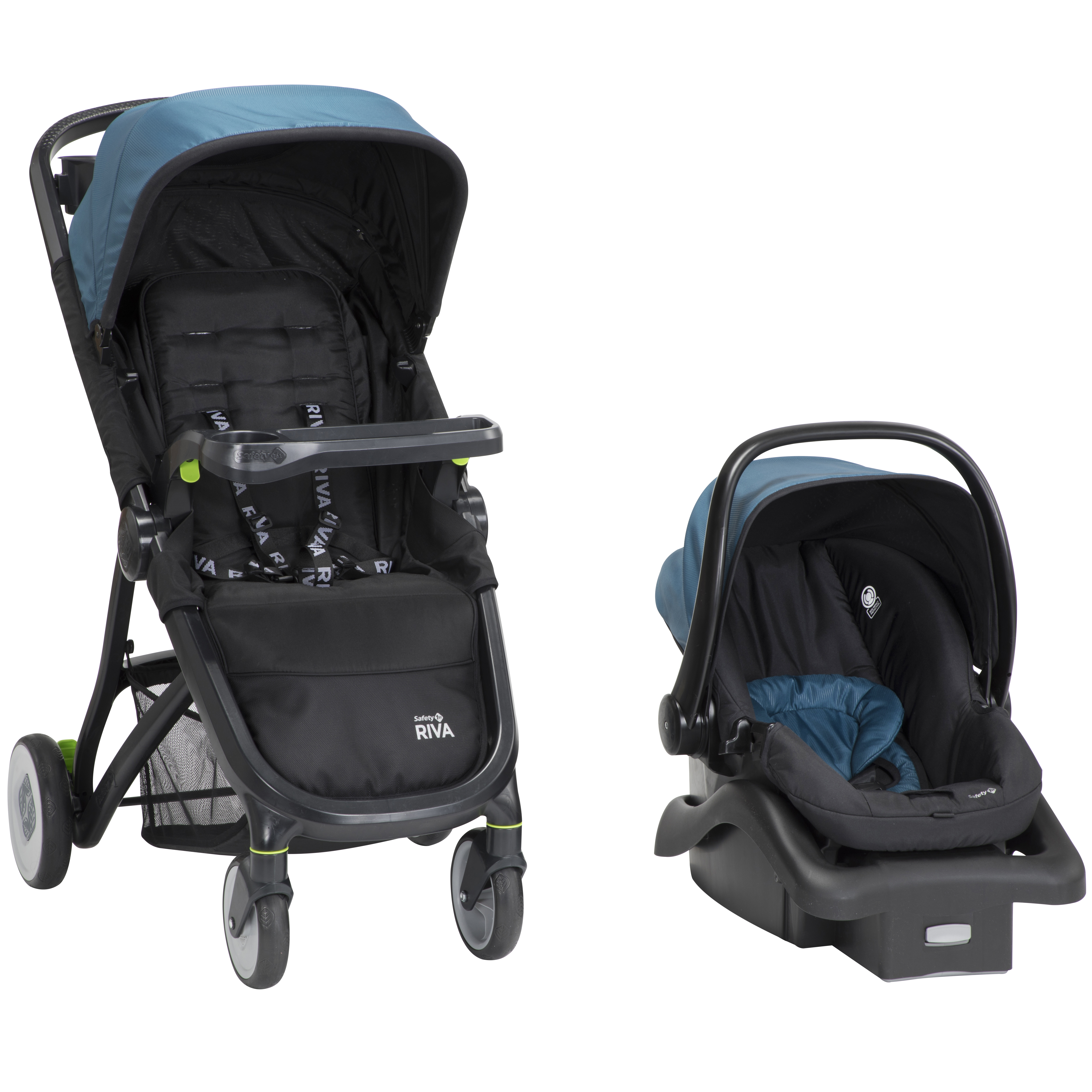 Safety 1�ᵗ RIVA Ultra Lightweight Travel System Stroller, Black Tie by Safety 1st
