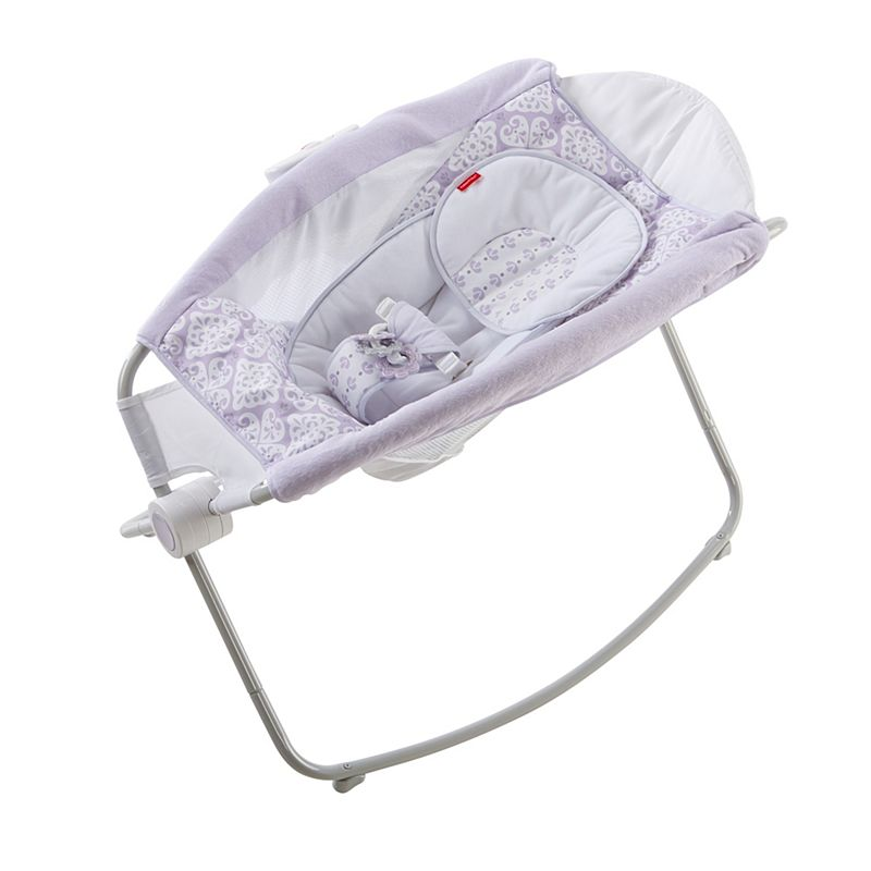 Fisher-Price Deluxe Rock 'n Play Sleeper, Purple/White