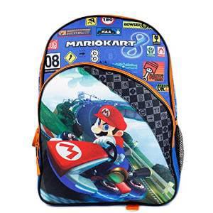 fac0dbd36156 Super Mario - Backpack - Nintendo - Kart 8 Blue Boys School Bag New ...