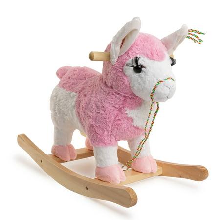 Ponyland Rocking Llama W Music Rocker Walmart Com