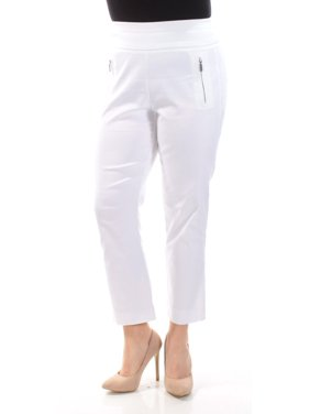 301bb5d76d3 Product Image INC Womens White Zippered Skinny Pants Size  8
