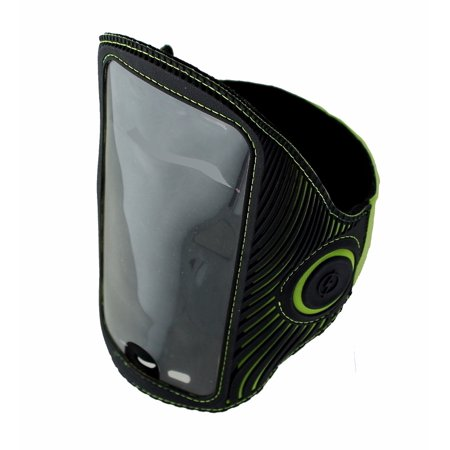 Griffin Armband - Griffin LightRunner Flashing ArmBand for Phones up to 5.5 inch - Black / Green (Refurbished)